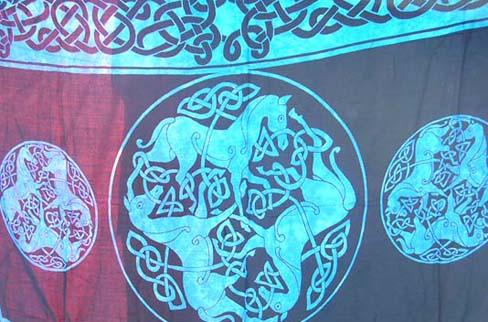 DETAILCeltic band and animal design on royal blue summer wrap dress