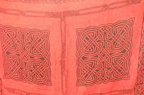 Holiday travel gifts hopping catalog warehouse, Hot red pool side bathing suit shawl with celtic knot design