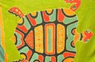Beauty wear express supplier import high style Sea turtle print on tropical spring batik shawl