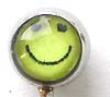 Kid's cartoon body jewelry wholesale--Fashion body jewelry plug with yellow happy face