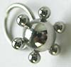 wholesale body jewelry -- Fashion body jewelry with six small spheres around the centre large sphere