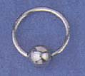 Silver sterling body jewelry wholesale -- Fashion silver sterling captive ring
