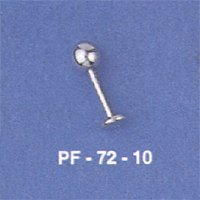 wholesale body jewelry catalog -- Fashion barbell with one ball and plate on the side