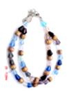 High fashion necklace jewelry supplier -- Fashion necklace with assorted color bead pattern