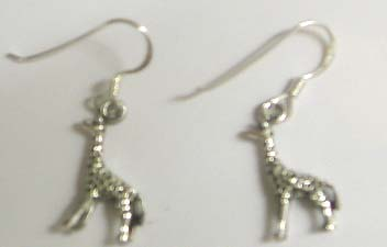 Animal lover jewelry wholesale - 925.steling silver earring motif deer with fish hook to fit