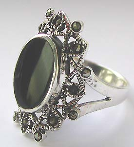 Discount ring jewelry supply - Fashion style ring with multi mini cz around green germ stone