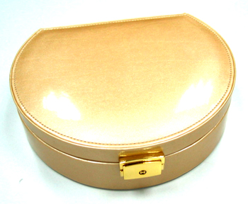 Personalize gifts shop wholesaler supply jewelry box with golden leather and lock design
