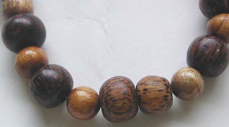 Thailand beaded manufactor online wholesale Bali necklace with multi shape wooden bead design
