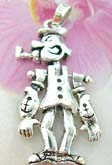 Thailand made solid sterling silver charm pendant in gentleman figure design with head, arms and legs movable