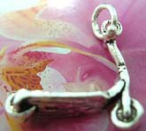 Thailand made solid sterling silver charm pendant in carved-out scooter