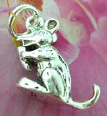 Rabbit eatting carrot design Thailand made solid sterling silver charm pendant