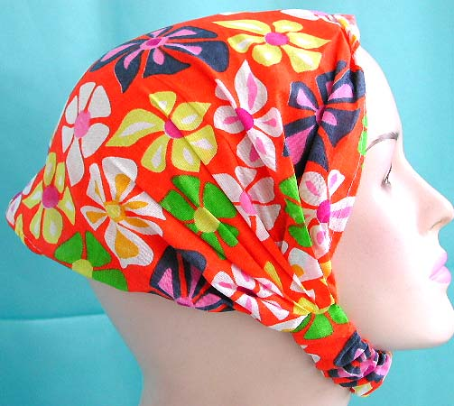 Perfect seleciton bandana for head online wholesale red head scarf with stretchable end in multi color flower pattern design