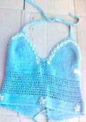 crochet dance wear, island wear, tropical clothing, beach summer apparel