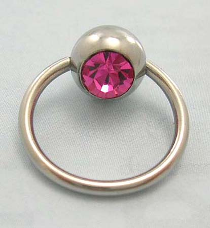 Holiday body jewelry & piercing supplies shopping onling - steel ball closure ring for belly botton with pink Cz