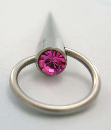 Online body piercing jewelry at wholesale price supply straight belly button jewelry with pink Cz in surgical steel