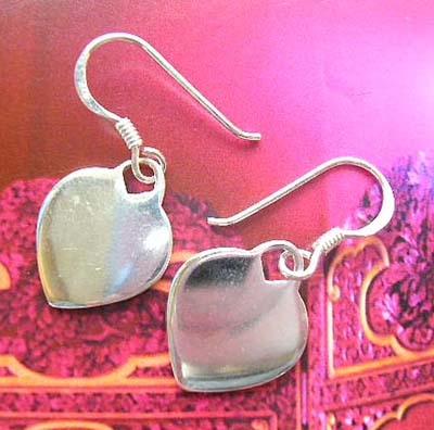 Fashion jewelry wholesale in mother of pearl - sterling silver earrings with white mother of pearl seashell inlay