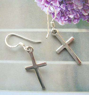 Cross fashion high jewelry shop for gift wholesale cross earrings, 925 stamped