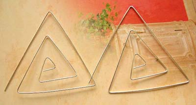 Wholesale jewelry fashion making supply sterling silver triangular earrings, 925 stamped