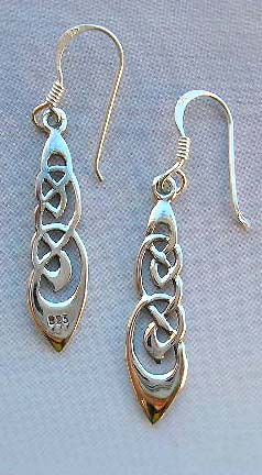 Wholesale Celtic designer Irish art trendy sterling silver earrings