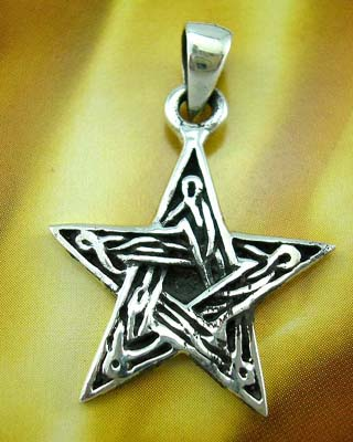 Fashion star-shaped pendant wholesaler stelring silver pendant in star design