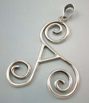 Shop for letter A fashion jewerly pendant supplier display curly A letter sterling silver pendant