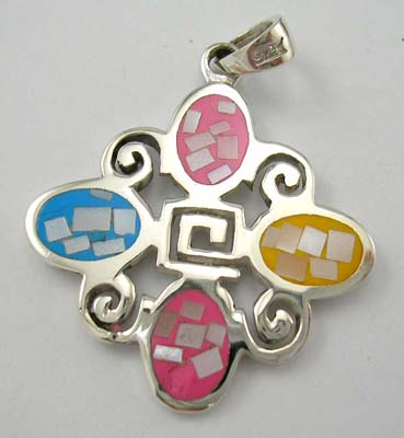 Mother-of-Pearl making kit fashion jewelry design in sterling silver assorted mother of pearl pendant