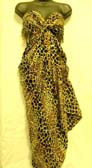 Beauty wear botique wholesale high fashion leopard print batik summer wrap