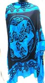 Batik shawl wholesale, Celtic animal print and knot decorated fashion sarong dress from Indonesia