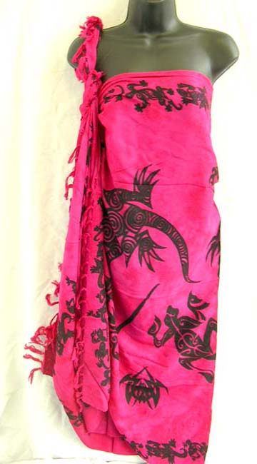 Distribution boutique wholesales Balinese tribal artisan symbols on womens sarong