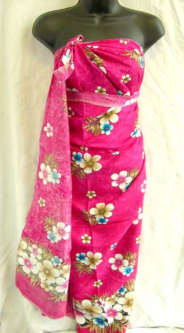 Fashion wear, beautiful flower print sarong wrap from Balinese exports