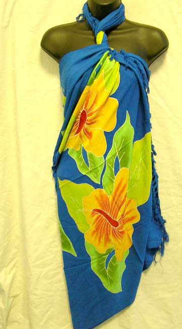 Online outlet factory supplies balinese summer cover up in tropical flower design