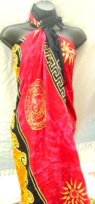 Batik wear export supply company wholesale celtic inspired fashion beach wrap