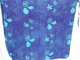 Winter scene deep blue long skirt