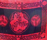 Red celtic sarong kedua with Interlace Knotwork
